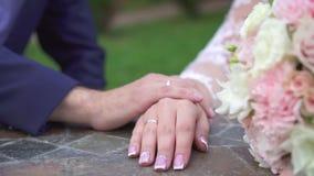 概念想法新婚佳偶,结婚戒指 股票录像