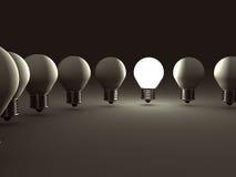 概念想法电灯泡 另外领导 向量例证