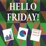 写你好星期五的手写文本 概念意思用于表示从新星期初期的高兴  向量例证