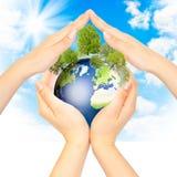 概念我们地球的家 免版税库存图片