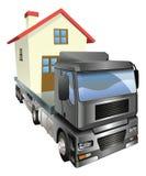 概念房子移动卡车 免版税库存图片