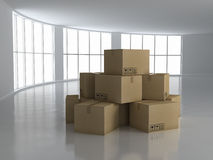 概念房子移动 图库摄影
