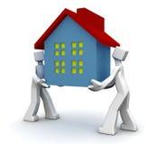 概念房子移动 免版税库存图片