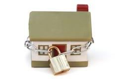 概念房子锁定安全 免版税库存图片