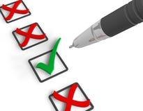 概念投票 免版税库存图片