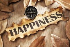 概念指导幸福 免版税图库摄影