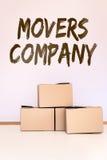 概念搬家工人公司 库存图片