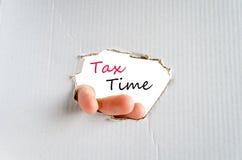 1040年概念放置包税时间顶层的表单指令 图库摄影