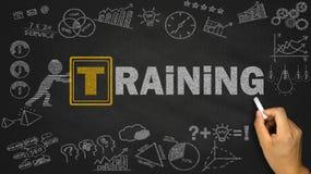 概念教育查出的培训的白色 免版税库存图片