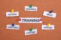 概念教育查出的培训的白色 图库摄影
