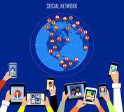 概念数位生成了喂图象网络res社交 免版税库存图片