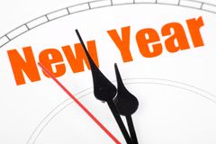 概念新年度 库存图片