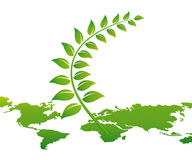 概念映射世界 免版税库存图片