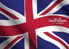 概念有英国旗子摘要颜色背景 免版税库存图片