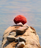 概念未清红色石头 免版税图库摄影