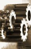 概念机械零件 库存照片