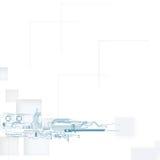 概念查出的技术白色 免版税库存照片