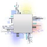 概念查出的技术白色 免版税库存图片