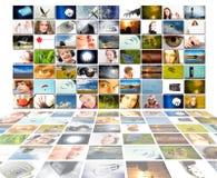 概念查出的生产电视 免版税库存图片