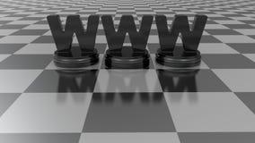 概念查出的空白万维网 免版税库存照片