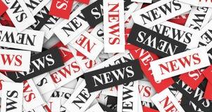 概念标记许多新闻纸字 免版税库存照片
