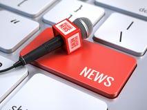 概念标记许多新闻纸字 库存例证