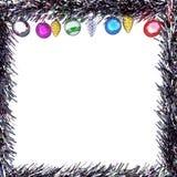 概念框架圣诞节贺卡 免版税库存照片