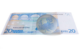 概念欧洲欧元区远期 免版税库存图片