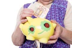 概念毁坏退休计划 免版税库存照片