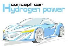 概念汽车氢力量 免版税库存图片
