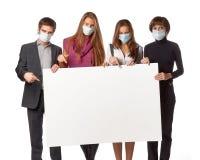 概念流感维护预防措施 库存照片