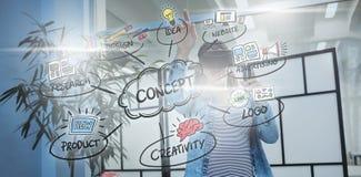 概念流程图的综合图象 库存照片