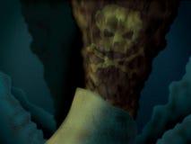 概念海湾油羽毛毒物溢出 库存例证