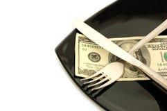 概念消耗大的食物 免版税库存图片