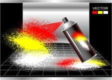 概念烟雾剂喷射画家 免版税库存照片