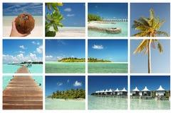 概念热带海岛的天堂 库存照片