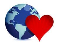 概念爱世界 免版税图库摄影