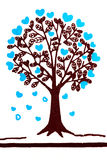 概念爱护树木和环境在织品纹理孤立在白色 免版税库存图片