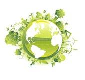 概念生态行星保存 图库摄影