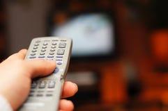 概念电视 免版税库存照片