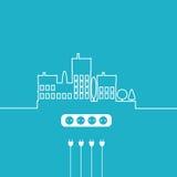 概念电Circuit City 传染媒介平的设计 免版税库存照片