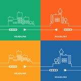 概念电Circuit City 传染媒介平的设计 免版税库存图片