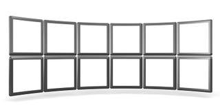 概念画廊产品showreel 向量例证