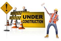 概念的建设中您的网页的 免版税库存图片
