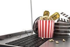 概念看网上电影 向量例证