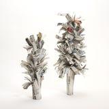 概念砍伐森林报纸结构树 免版税库存照片