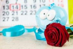 概念礼物2月14日,一件为华伦泰` s天, 免版税库存照片