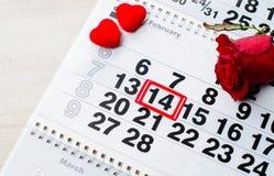 概念礼物2月14日,一件为华伦泰` s天 图库摄影