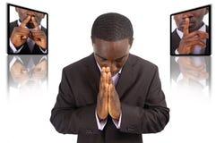 概念祷告 库存图片