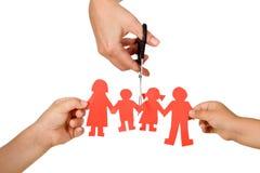 概念离婚作用孩子 免版税库存图片